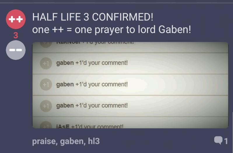 Praise Half Life 3 Confirmed One One Prayer To Lord Gaben
