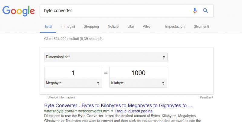 byte conversion - C'mon google, you used to be smarter than this