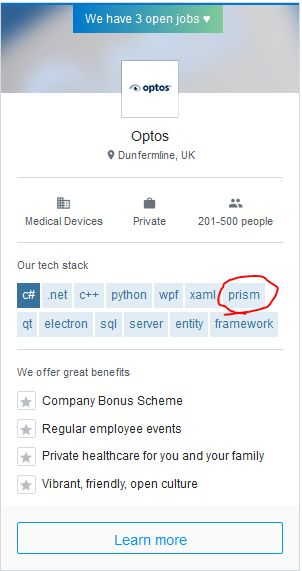 prism - Well, at least they're honest about their