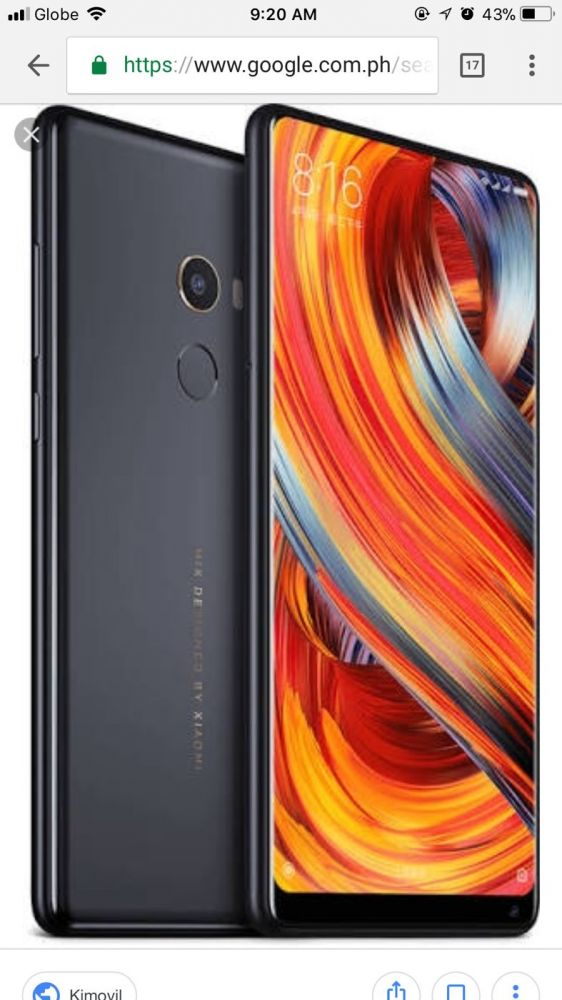 resetting an iphone cellphone i went to the mall and saw xiaomi mi mix 2 2411