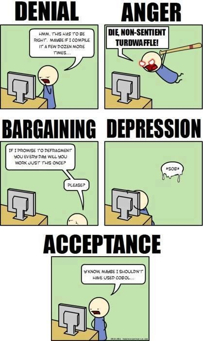 7 Stages Of Grief Meme