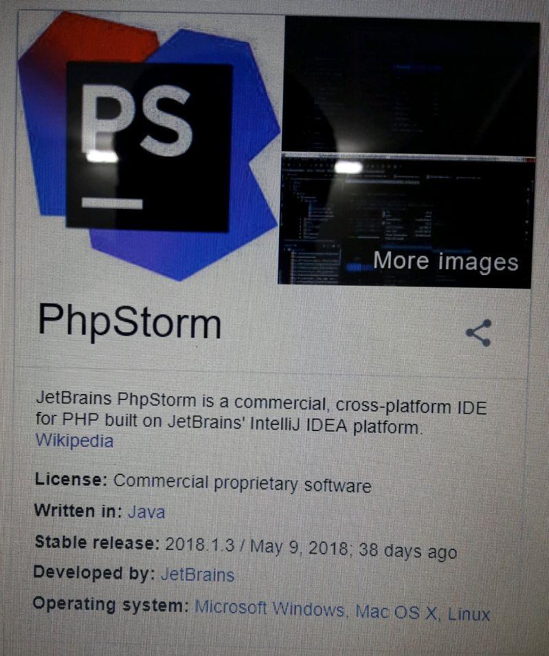phpstorm - Most popular PHP x-platform Ide PhpStorm is written in
