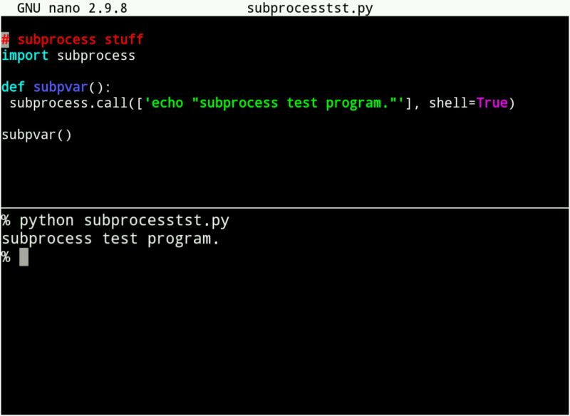 os - Learning the subprocess module in python, because os is