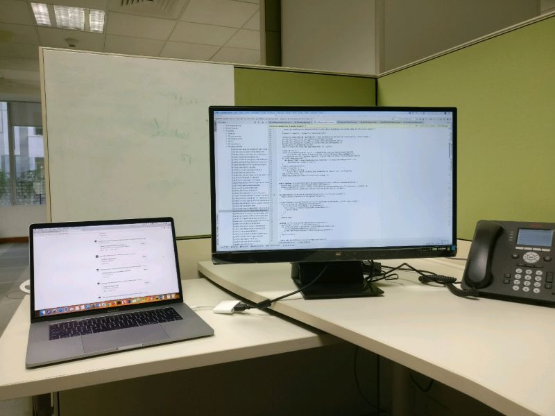 Photo Of Desk Setup Or Laptop Outside Devrant