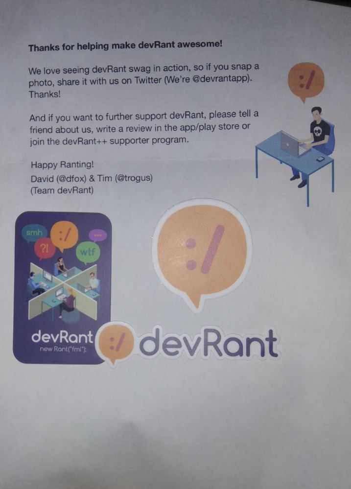 stickers - Finally got my stickers after months of waiting! - devRant