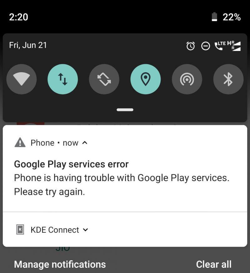 permissions - I removed mic permission from Google and