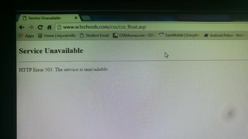 Guys w3schools is down  This is not funny! I repeat this is not