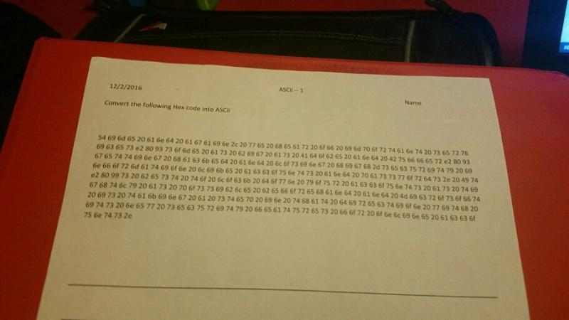hexadecimal - So this is my homework, I have to convert