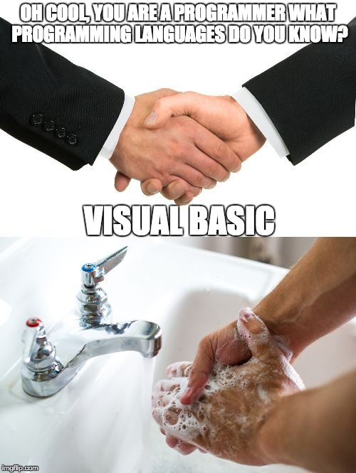 Image result for visual basic meme