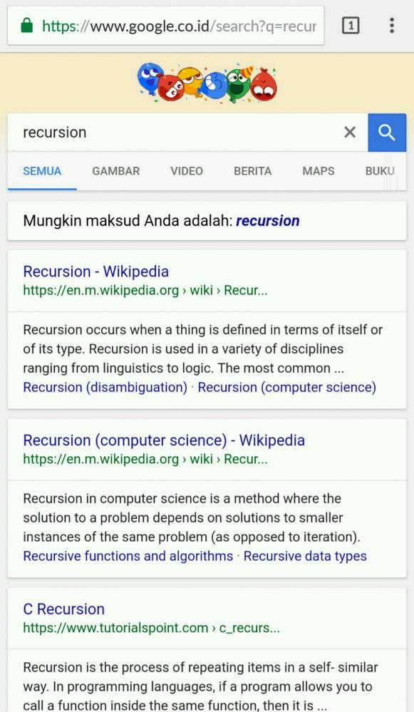 recursion - Lol what is this? - devRant
