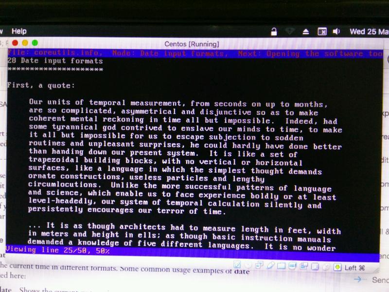 unix - info coreutils --node='Date input formats' Unix