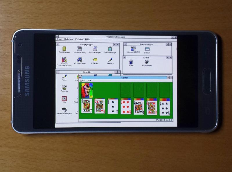 windows 3 1 - ! Rant & Galaxy Alpha & Android 5 0 2 & Dosbox Turbo