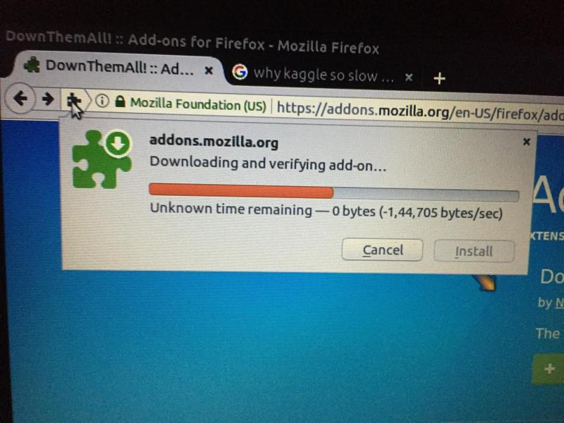 mozilla firefox download speed slow
