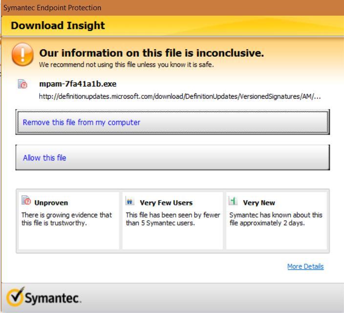 symantec virus definitions download