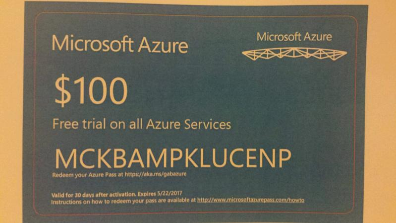 100 Dollars A Month >> Who Wants A Free 100 Dollars Azure Voucher Valid For One