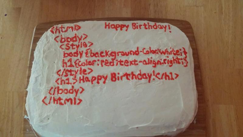 Front End Wifey Made Me An Epic Birthday Cake Devrant
