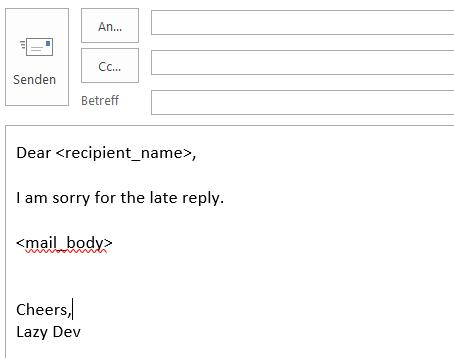 Now Using Outlook Templates For Repetitive E Mail Texts DevRant